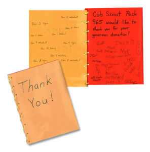 Cub Scout Thank You Card