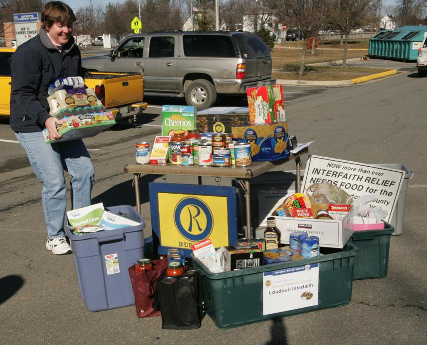 Donations at Lucketts, VA