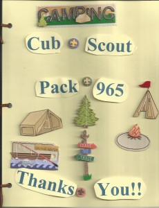 Cub Scout 2013 Thank You Cover