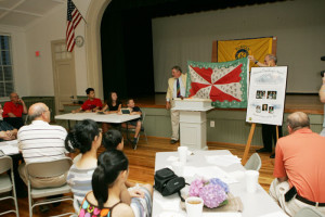 During the flag identification quiz, nobody knew the mystery flag was the Loudoun County flag.