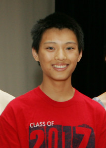 Student Citizen of the Year, Christopher Jiang