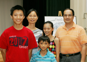 Christopher Jiang with his family.