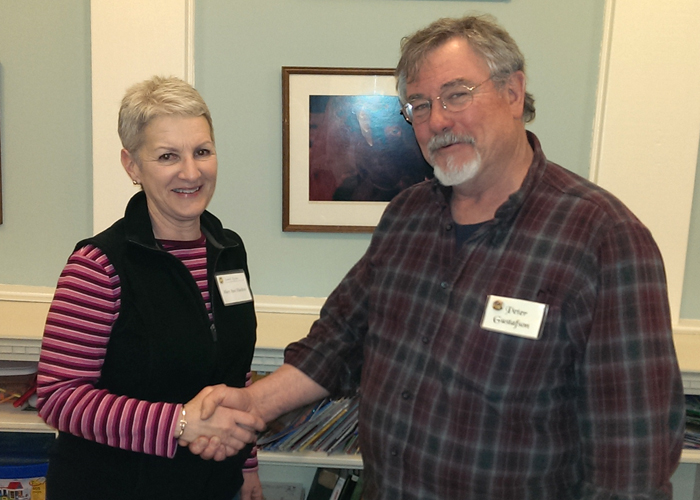 President Peter Gustafson welcomes Mary Ann Harden