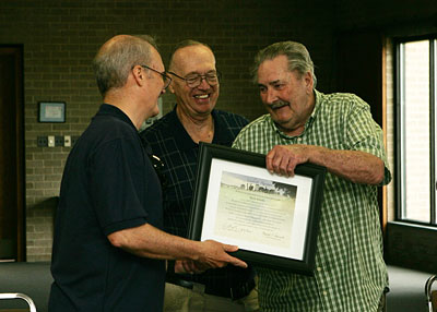 (L to R) President James McKenzie, John Adams, Dick Snooks