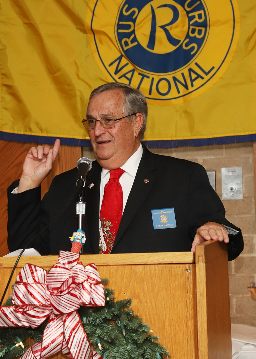 Ruritan National President Larry Cassel